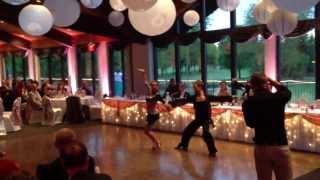 Stephanie Smolen and Matt Kubak Latin Dance show