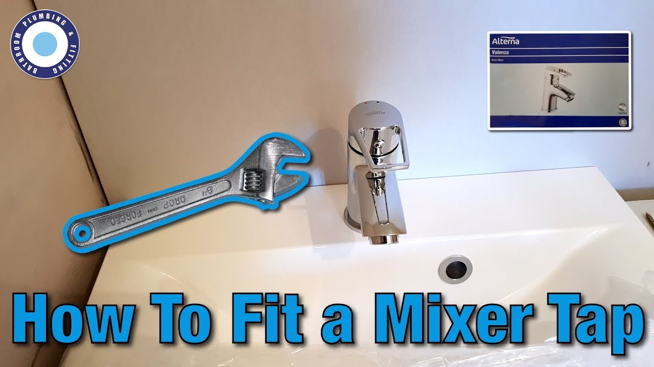 How To Fit Basin Mixer Taps | Change MIxer Taps | Alterna Bristan ...