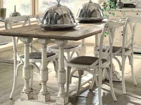 Ideas sillas comedor youtube - Mesas de salon rusticas ...