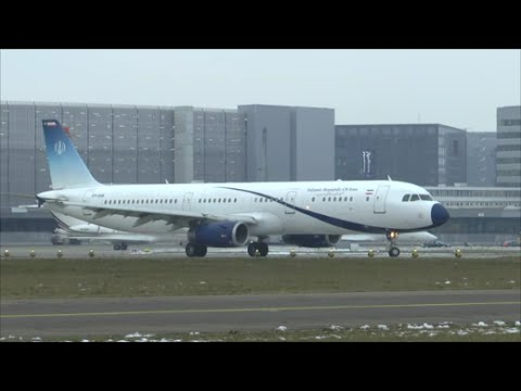 [HD] Islamic Republic of Iran A321 takeoff at Zurich Airport - 22/01/2016
