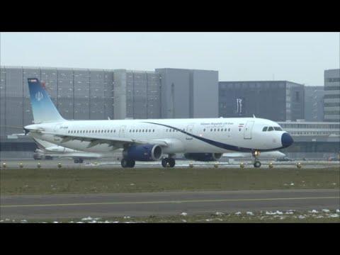 [HD] Islamic Republic of Iran A321 takeoff at Zurich Airport - 22/01/2016