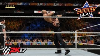 WWE 2K17 - The Undertaker vs. Brock Lesnar: Summerslam (2015) | PS4/Xbox One Gameplay