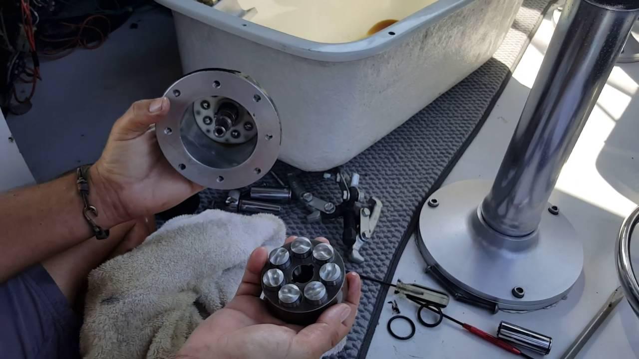 Boat Steering Repair Youtube