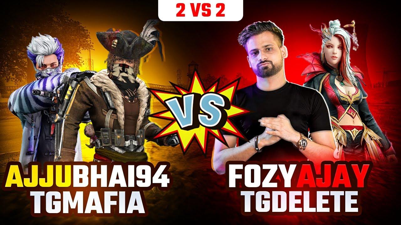 AJJUBHAI94 AND MAFIA VS FOZYAJAY AND TG DELETE MUST WATCH CLASH SQUAD GARENA FREE FIRE GAMEPLAY #11