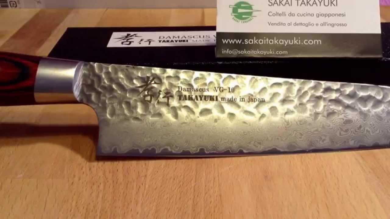 Coltelli da cucina serie damasco 33 strati sakaitakayuki youtube - Set di coltelli da cucina ...