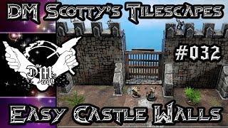 Super Easy and Cheap Castle Walls for D&D (Tilescapes #32)