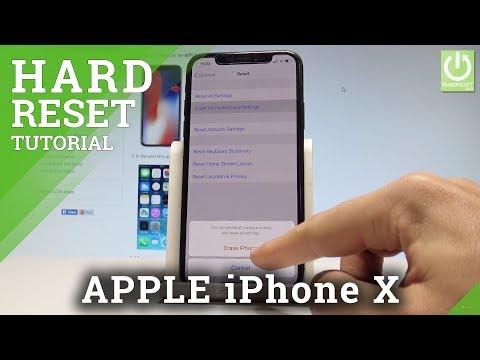 APPLE IPhone X HARD RESET / Wipe Data / Restore IOS