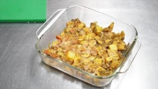 Ground Beef Casserole With Diced Tomatoes, Hash Browns & Cream Of Mushroom : Ground Beef Recipes