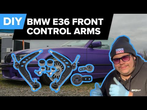 BMW E36 Front Control Arm & Bushing Replacement DIY (328i, 325i, 323i, 318i, Z3 & More)