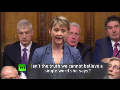 Yvette Cooper hits out at May during #PMQs