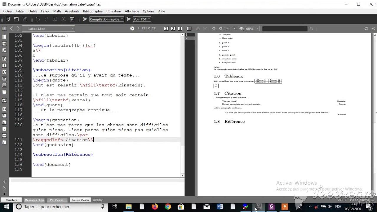 Référencer une partie de texte en Latex. - YouTube