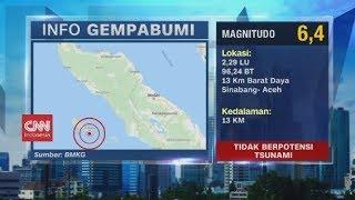 Gempa 6,4 Magnitudo Guncang Sinabang Aceh