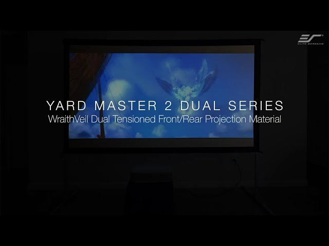Elite Screens Yard Master 2 WraithVeil® Dual Series- Outdoor Front and Rear Projection Screen
