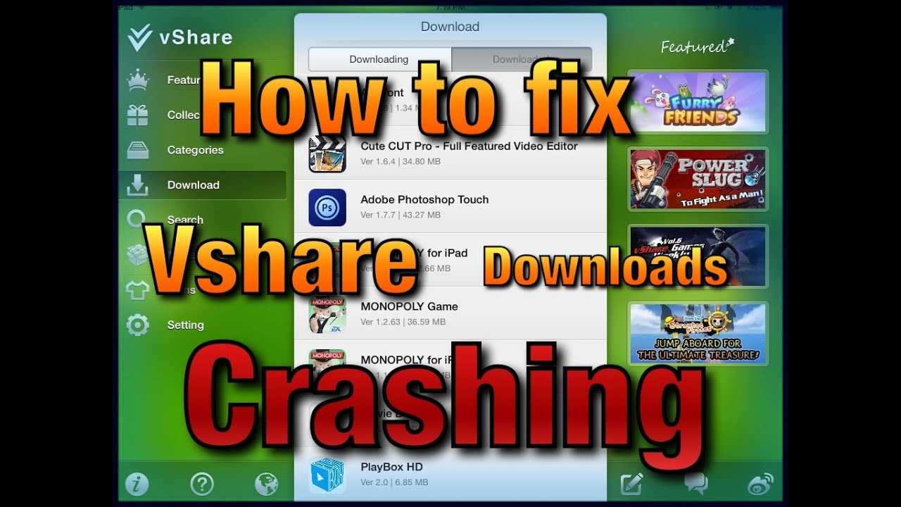 how to fix vshare download error