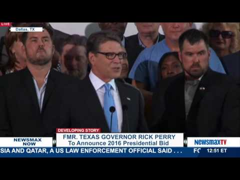 Newsmax Now | Rick Perry Announces 2016 Presidential Bid