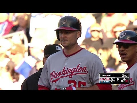 WAS@NYM: Robinson singles for Nats' first hit