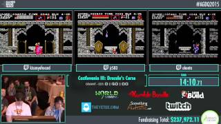 Awesome Games Done Quick 2015 - Part 59 - Castlevania III: Dracula's Curse by kmac, ohon, jc583