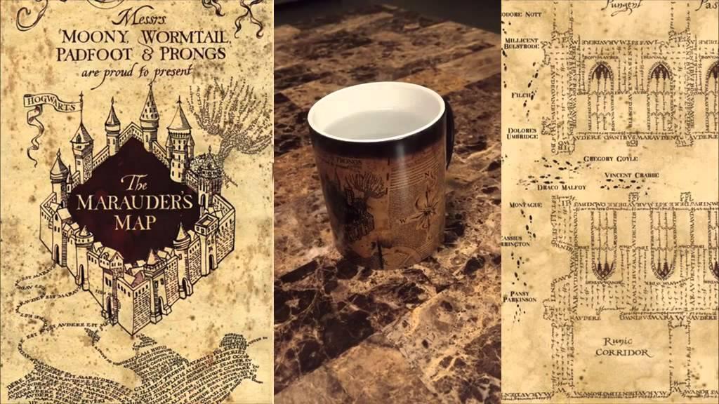 5e39193bf24 Harry Potter Marauders Map Morphing Mug - Color Changing - YouTube