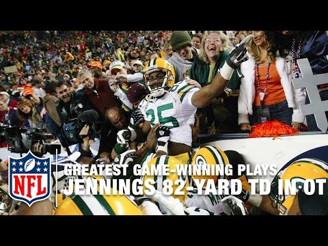 2007 Favre Connects with Jennings for 82-Yard TD in OT | NFL