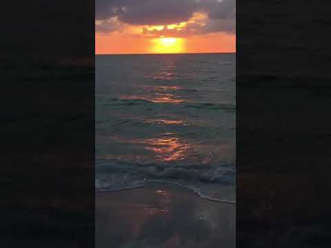 Sunset waves Annamaria Island