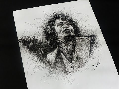 Joker Scribble Drawing : Drawing james brown scribble art youtube