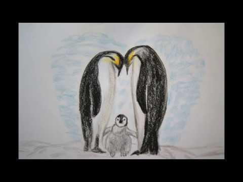 Pinguin Familie Zeichnen