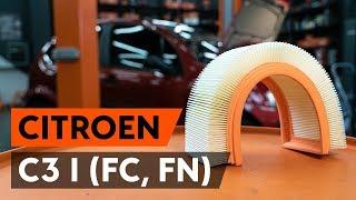 Como substituir filtro de ar noCITROEN C3 1 (FC, FN) [TUTORIAL AUTODOC]