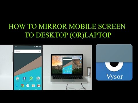 How To Mirror Android Mobile Screen On PC|Vysor app