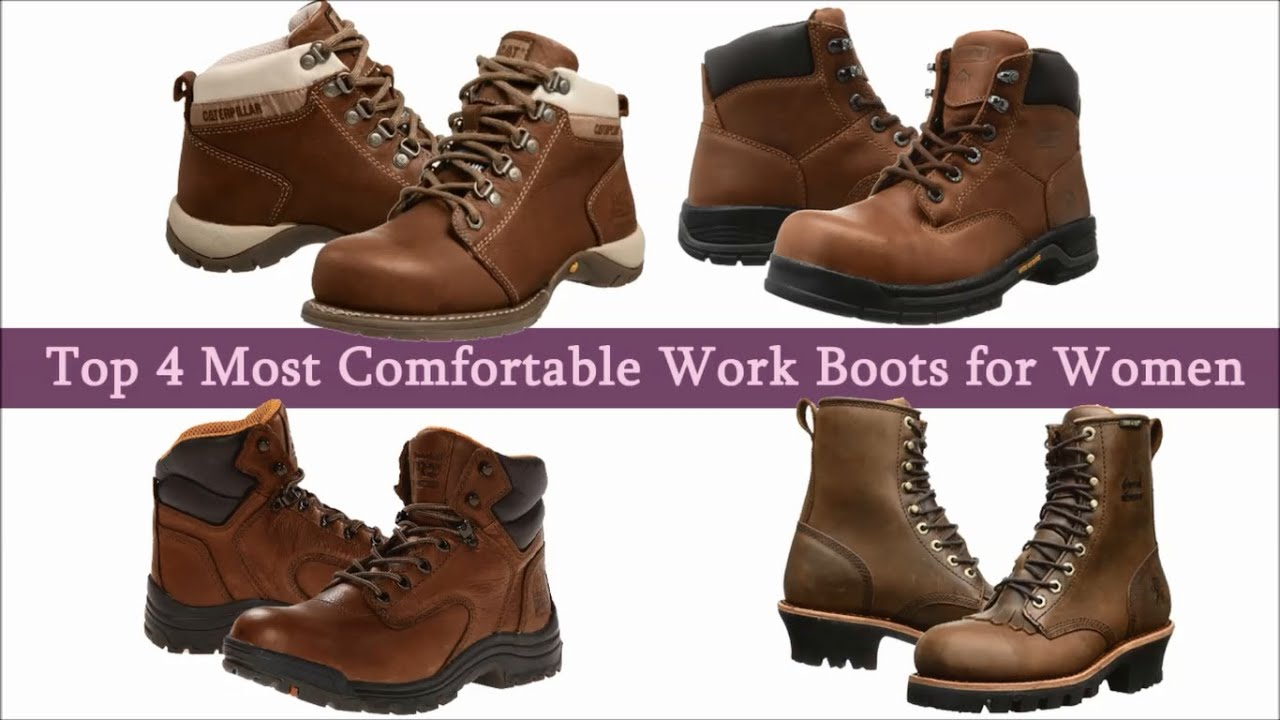 Most comfortable work boots for women - YouTube