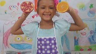 elif mutfakta oyunu portakal mandalin ve nar sıkıyor eğlenceli ocuk videosu