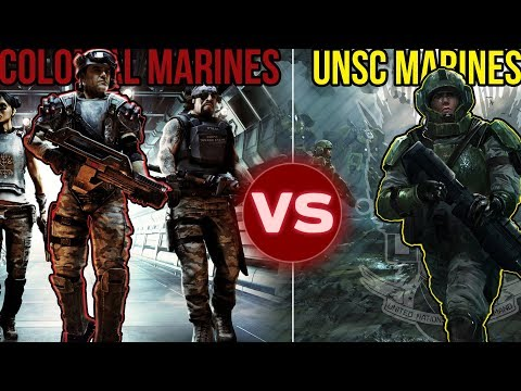UNSC Marines (Halo) vs Colonial Marine (Alien) | Squad Battle: Who Would Win