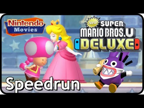 New Super Mario Bros. U Deluxe: 2 Players Full Game Any% Speedrun (Toadette, Peachette, Nabbit)