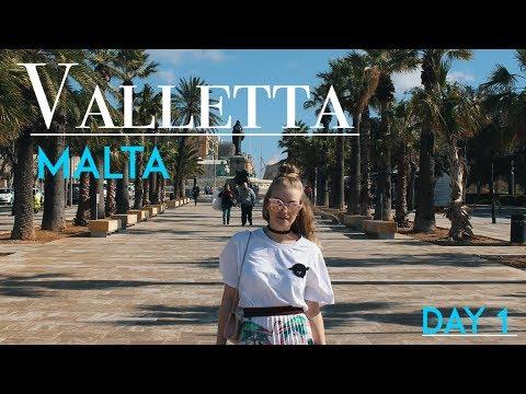 Valletta, Malta Travel Vlog 2018  (Day 1)