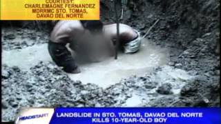 Davao del Norte landslide kills boy