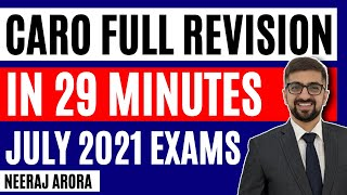CARO Full Revision in 29 Minutes | 2019 Exams