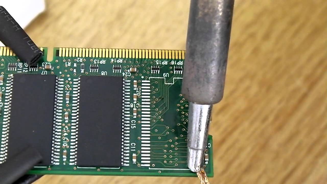 Solder 54pin Ram Chip With Hotair Only Youtube