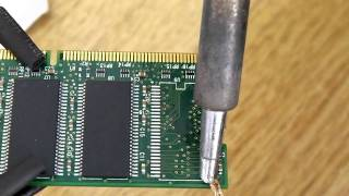 Solder 54pin ram chip with hotair only