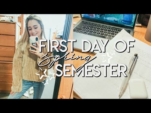 First Day of Spring Semester // College Day in My Life