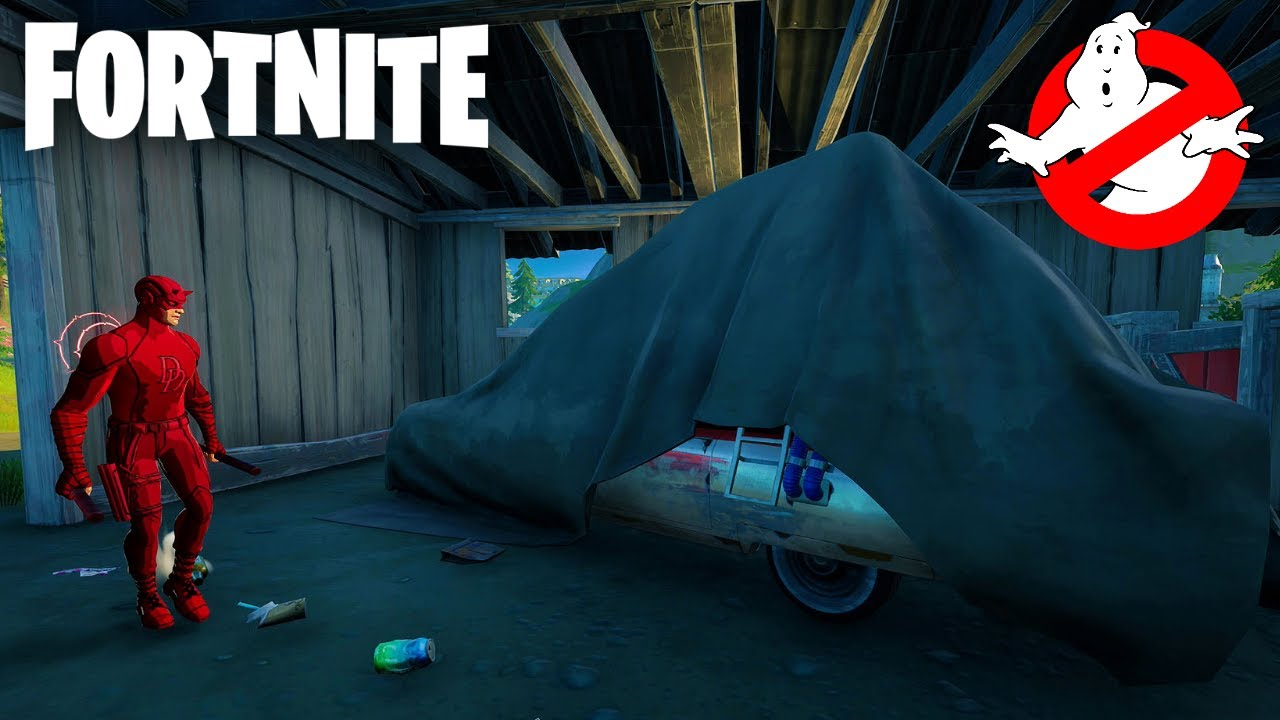 Fortnite - Where to Find Ecto-1 (Ghostbusters Coming Soon!) - YouTube