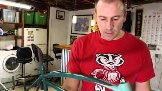 Pin striping a vintage prewar Schwinn