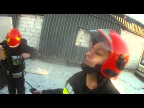 Pożar hal produkcyjnych w Markach 06.01.2015./ OSP Zielonka