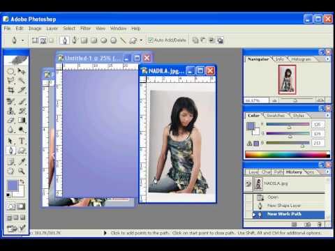 Tutorial Photoshop Dasar (Praktek membuat poster) - YouTube