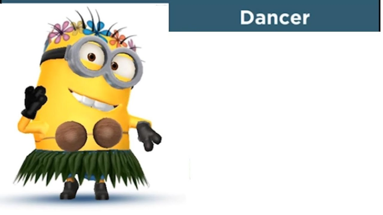 despicable me minion rush dancer costume youtube hula girl clipart hula girl clip art animated