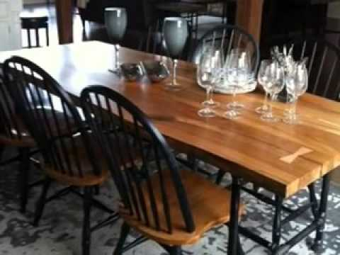 Harvest Table Live Edge Table Wood Slab Table Salvaged Wood Reclaimed  Furniture