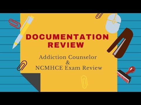 Documentation Review Addiction Counselor Exam