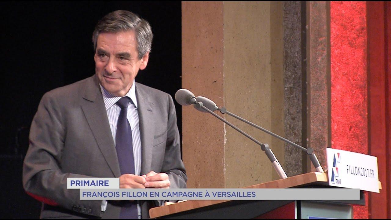 Primaire : François Fillon en campagne à Versailles