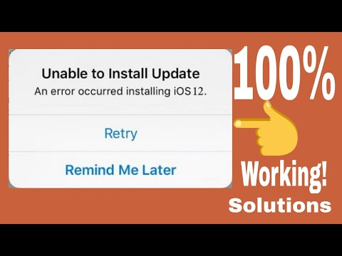 Unable To Install Update - An Error Occurred Installing IOS 12 On IPhone/iPad