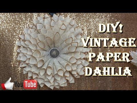 DIY PAPER DAHLIA WALL ART - WEEKEND PROJECT