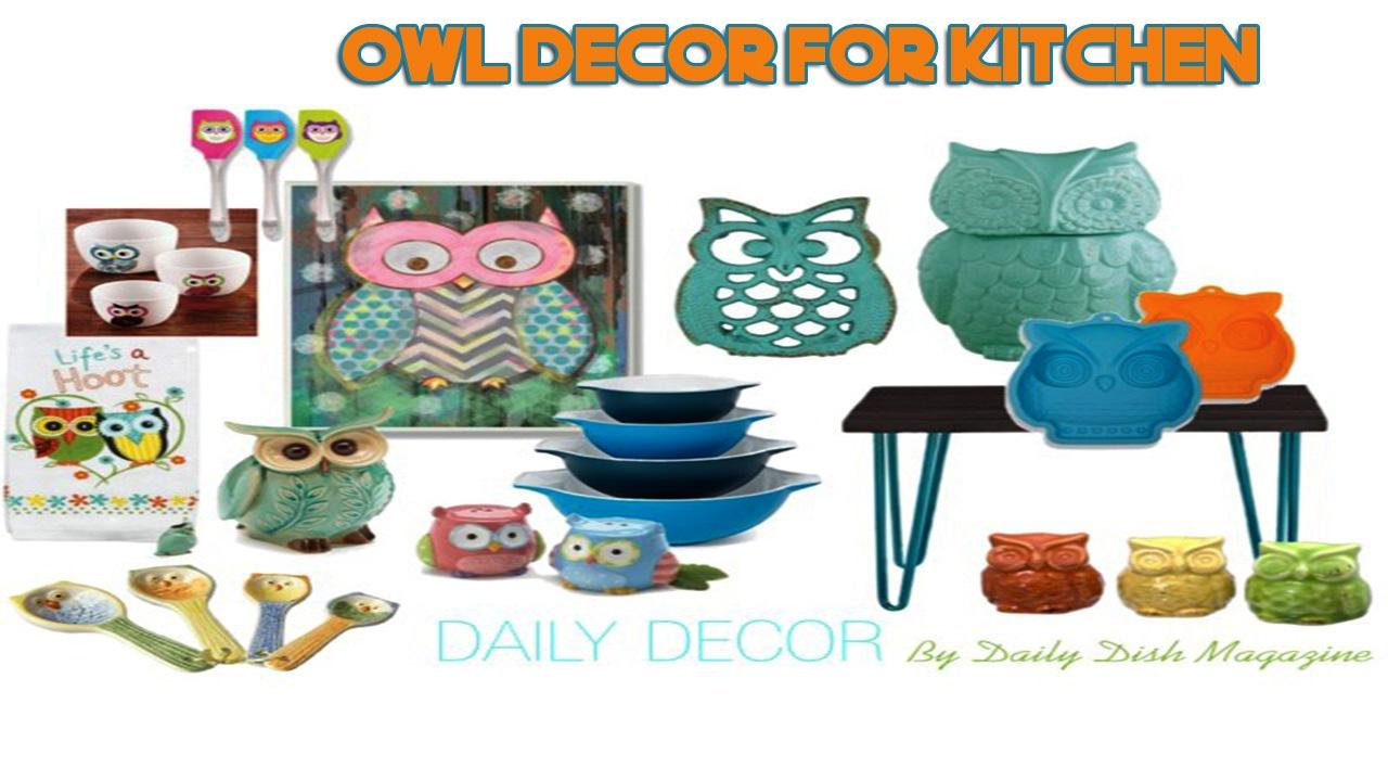 Daily Decor] Owl Decor for Kitchen - YouTube