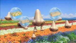 花の上に鼻。その鼻から鼻。そして花からも鼻。ハナが出た~♪ さらに鼻...